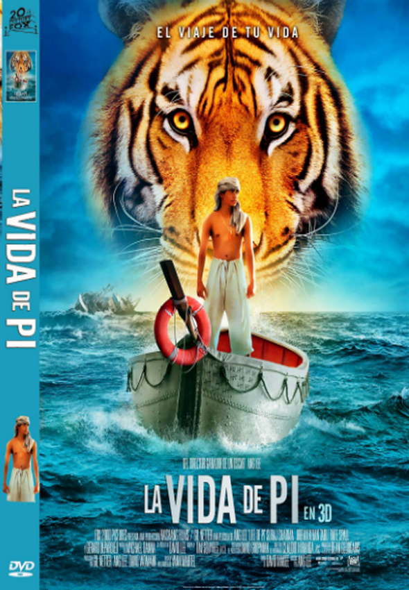 Vida de Pi DVD Interior