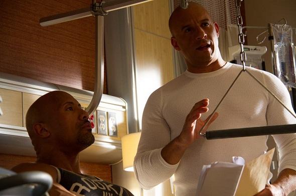 Dwayne Johnson y Vin Diesel en el rodaje de 'A todo gas 7'