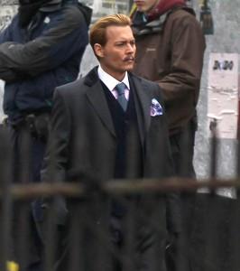 Johnny Depp en el rodaje de 'Mortdecai'