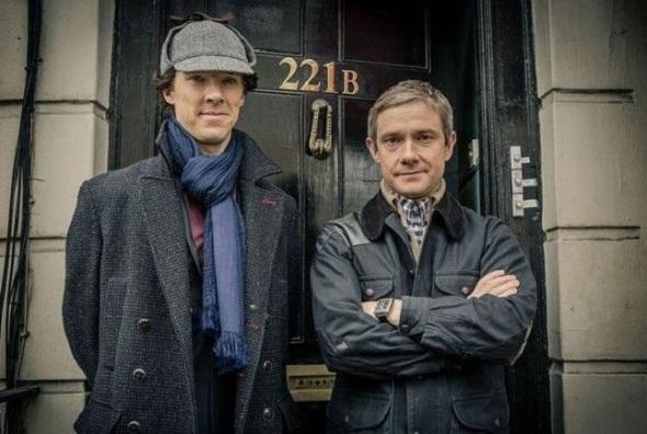 Benedict Cumberbatch y Martin Freeman en 'Sherlock'