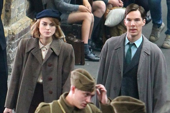 Keira Knightley y Benedict Cumberbatch en 'The imitation game'