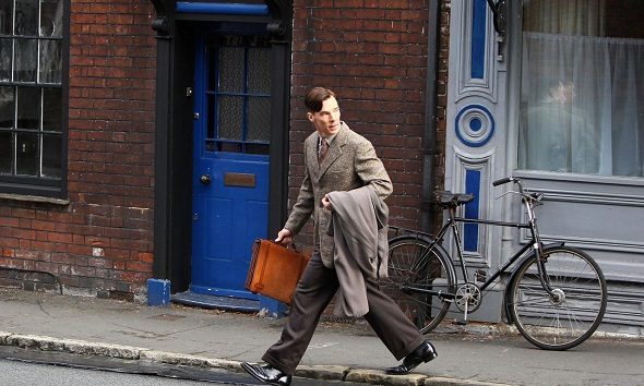 Benedict Cumberbatch en el rodaje de 'The imitation game'