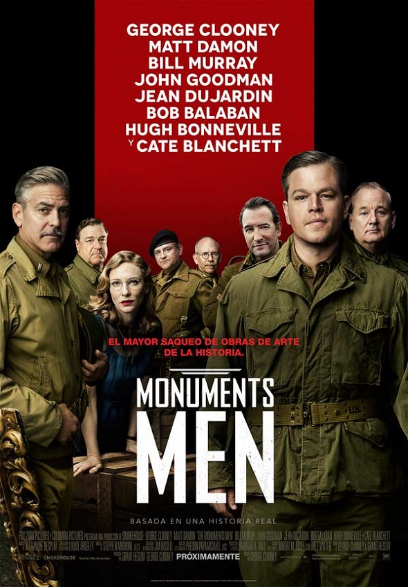 Póster de 'Monuments men'