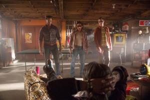 Hugh Jackman, James McAvoy y Nicholas Hoult en 'X-Men: Días del futuro pasado'