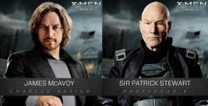 Los Xavier del pasado y el futuro de 'X-Men: Días del futuro pasado'