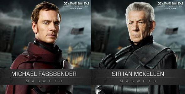 Los Magneto del pasado y el futuro de 'X-Men: Días del futuro pasado'
