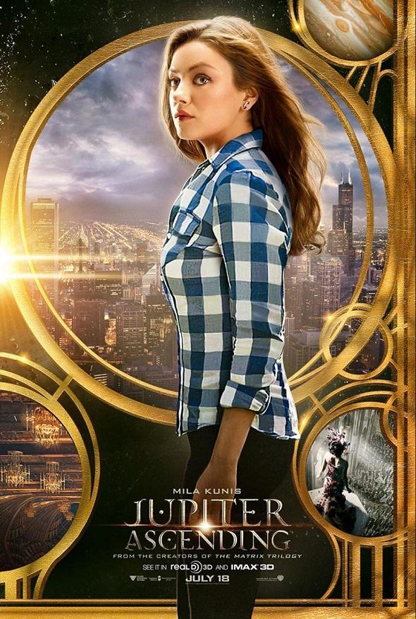Póster de Mila Kunis para 'Jupiter Ascending'