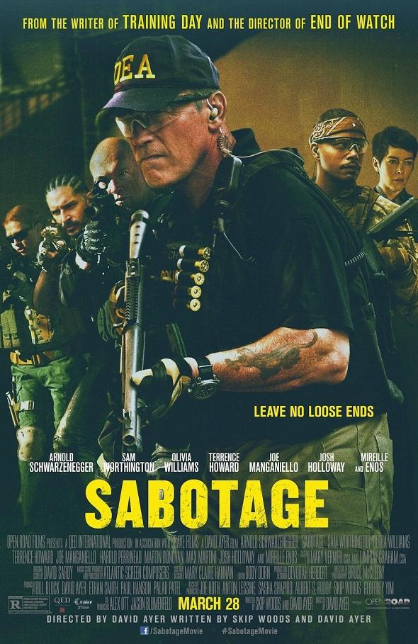 Póster estadounidense de 'Sabotage'