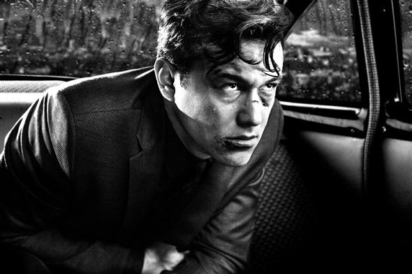Joseph Gordon Levitt en 'Sin City: A dame to kill for'