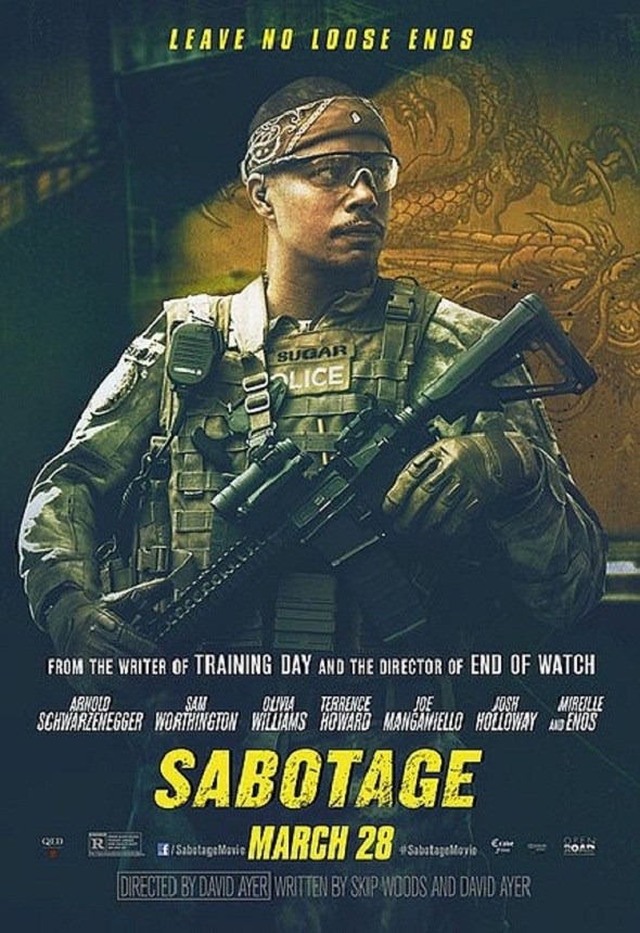 Póster de 'Sabotage' con Terrence Howard