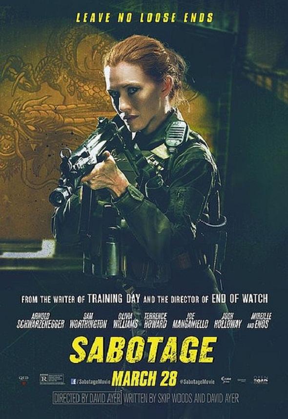 Póster de 'Sabotage' con Mireille Enos