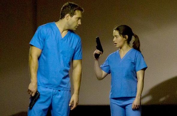 Emilia Clarke y Jai Courtney en el rodaje de 'Terminator: Génesis'