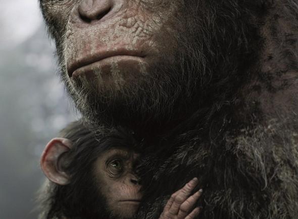 Póster en español para 'El amanecer del planeta de los simios'