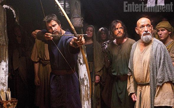 Christian Bale y Ben Kingsley en 'Exodus: Gods and kings'
