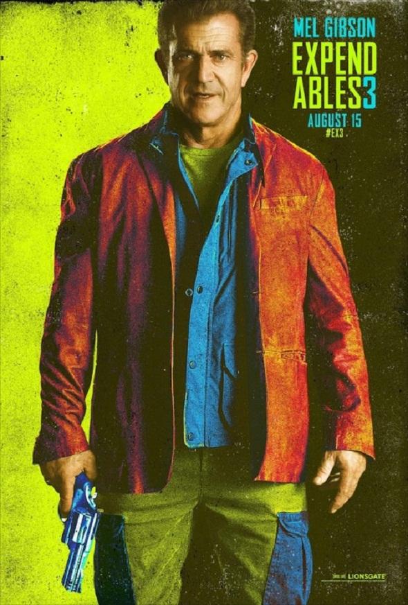Póster de Mel Gibson para 'Los mercenarios 3'