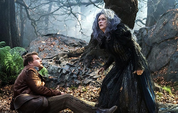 Meryl Streep y James Corden en 'Into the woods'