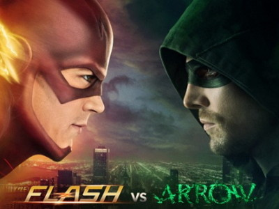 Imagen promocional del crossover The Flash VS Arrow