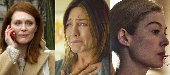 Julianne Moore, Jennifer Aniston y Rosamund Pike, tres de las nominados a la mejor actriz
