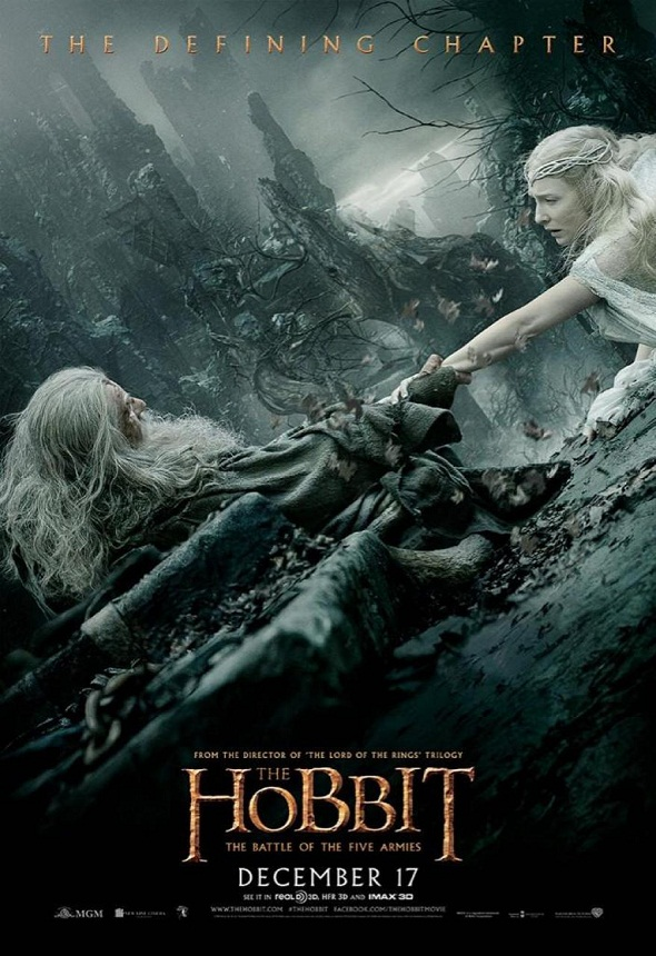 Póster de El Hobbit: la batalla de los cinco ejércitos (The Hobbit: the battle of the five armies)