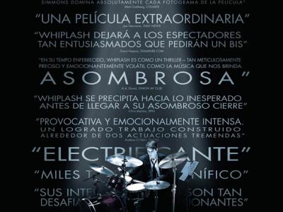 Póster en español de la película Whiplash