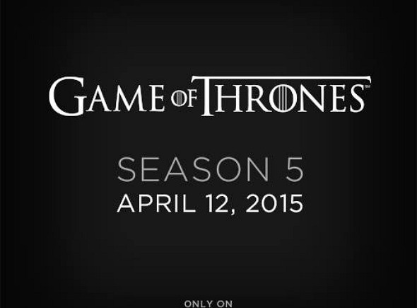 Anuncio de HBO de la quinta temporada de Juego de Tronos