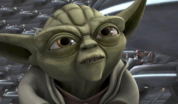 Una imagen de Yoda en la miniserie de animación Star Wars: The Clone Wars