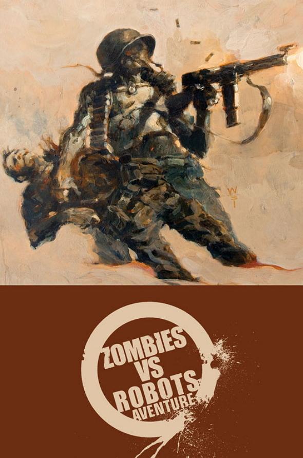Una imagen promocional del cómic ZombiesvRobots