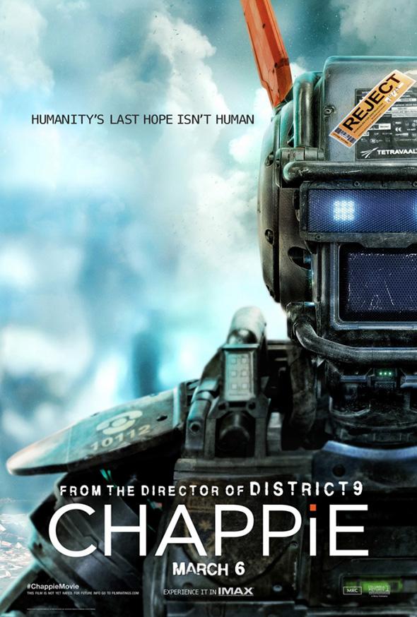 Imagen del póster de la película 'Chappie'