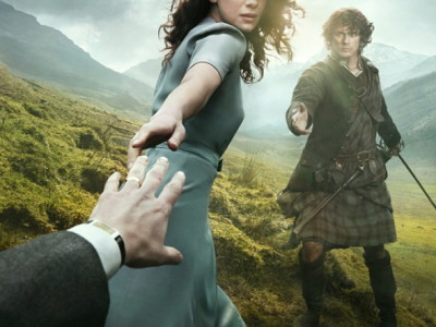 Imagen del póster promocional de la serie 'Outlander'