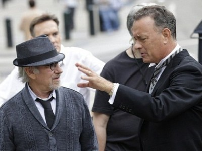 Spielberg y Hanks en el rodaje de 'Bridge of spies'