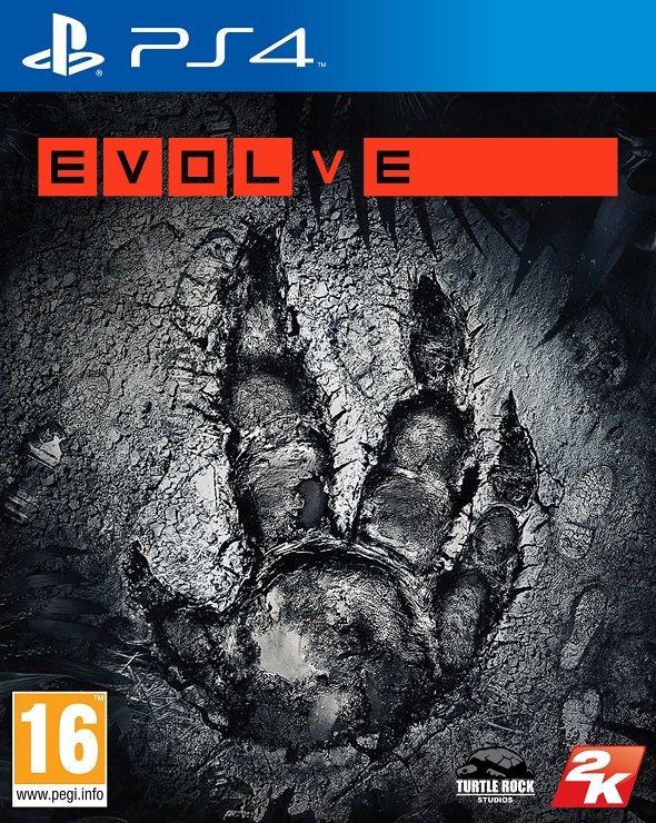 Evolve. Carátula de PS4