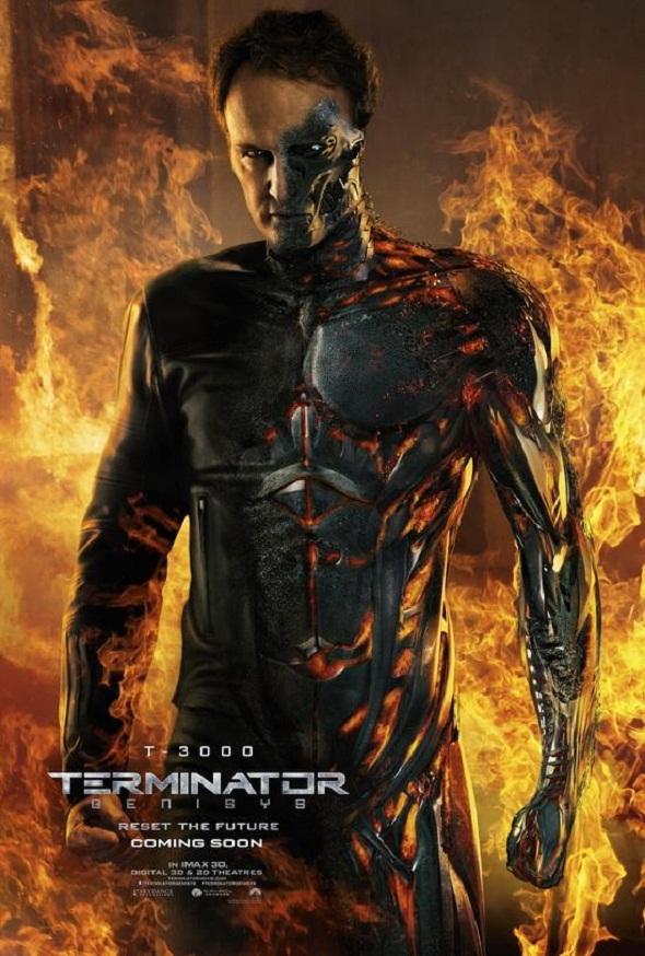 Jason Clarke en su póster para 'Terminator Génesis'
