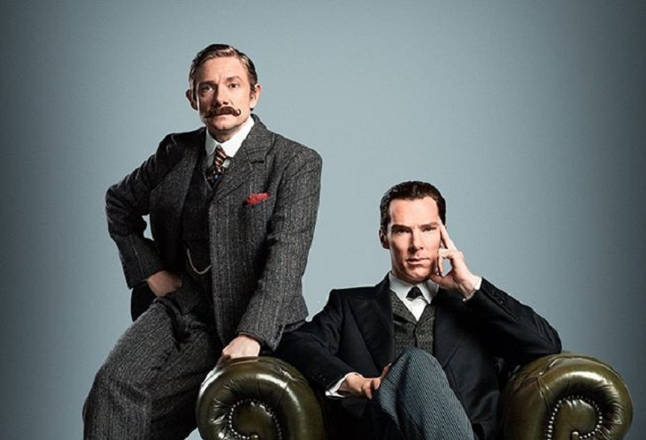 Martin Freeman y Benedict Cumberbatch, de época en el especial navideño de 'Sherlock'