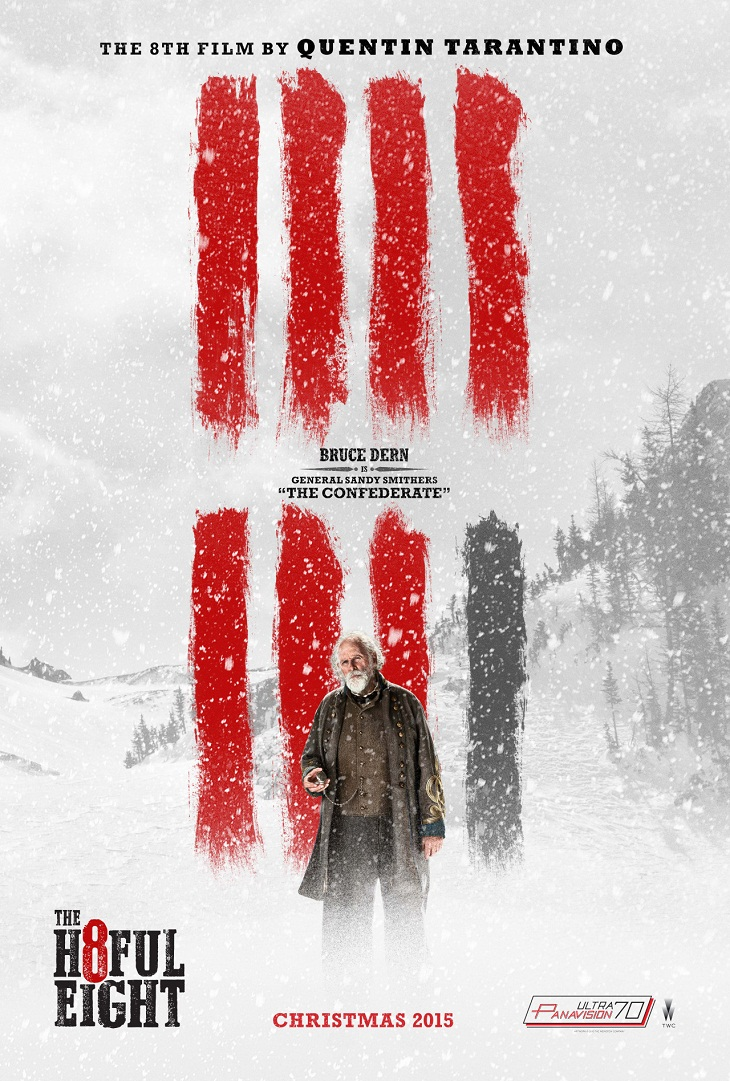 Cartel de 'The hateful eight' para Bruce Dern