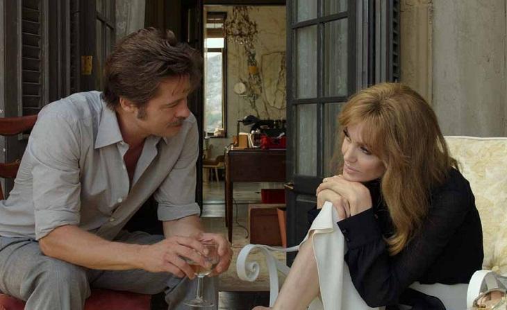Jolie y Pitt en una escena del film