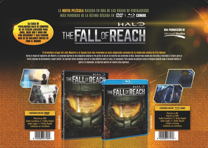 'Halo: The Fall of Reach' (DVD y Blu-ray)