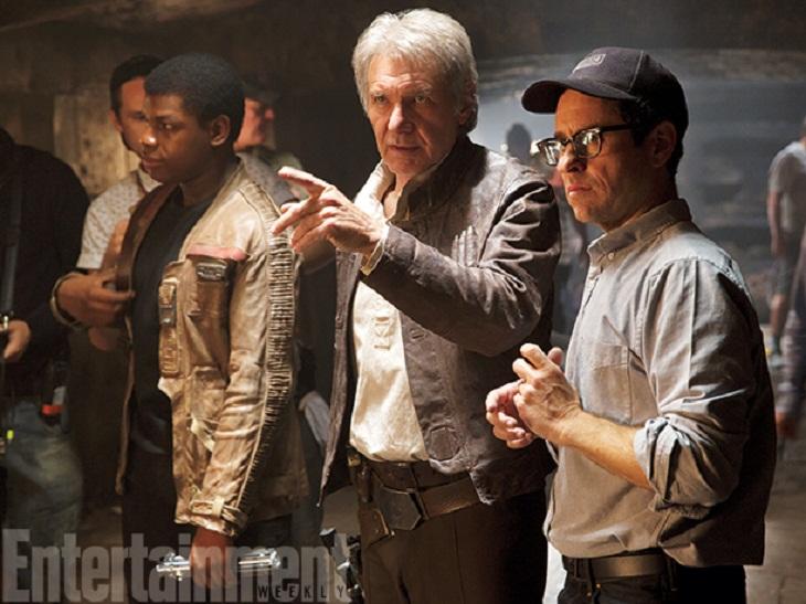 Ford y JJ Abrams en un momento del rodaje