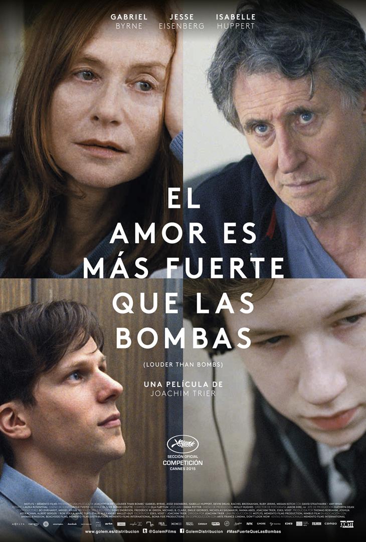 Cartel de 'El amor es más fuerte que las bombas' lo último de Joachim Trier con Gabriel Byrne