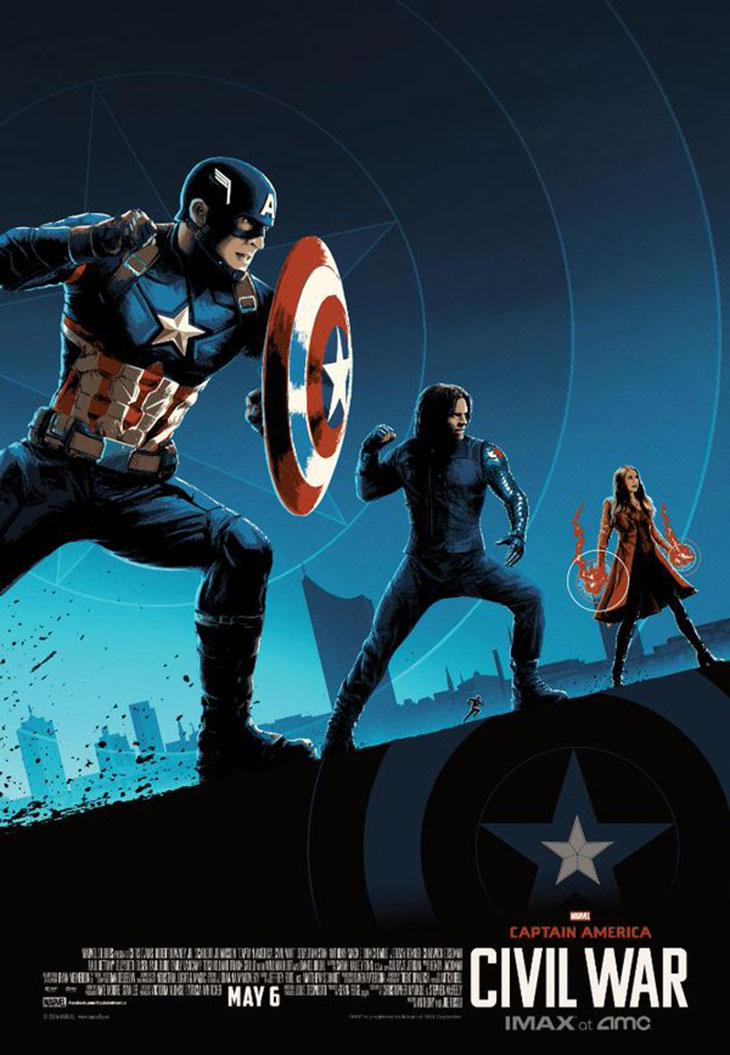 Capitán América: Civil War póster AMC