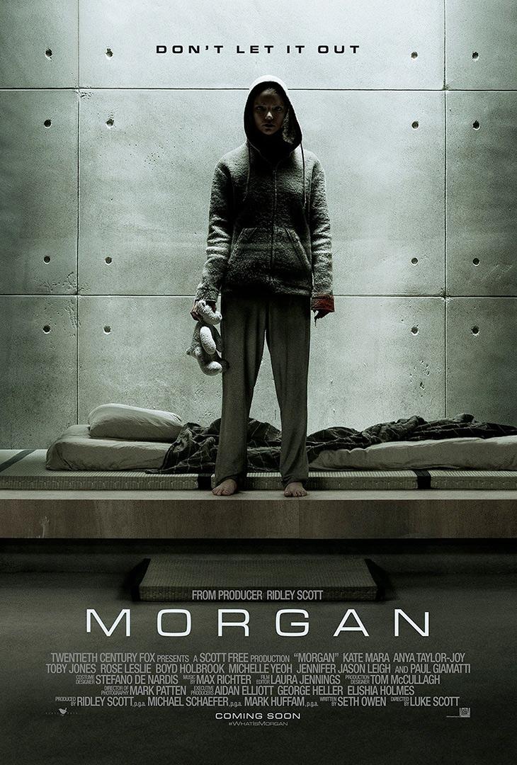 Póster de Morgan', con Kate Mara