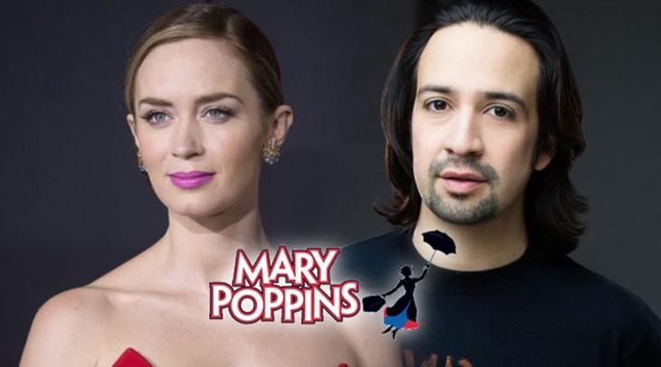 Emily Blunt y Lin Manuel Miranda Mary Poppins 2