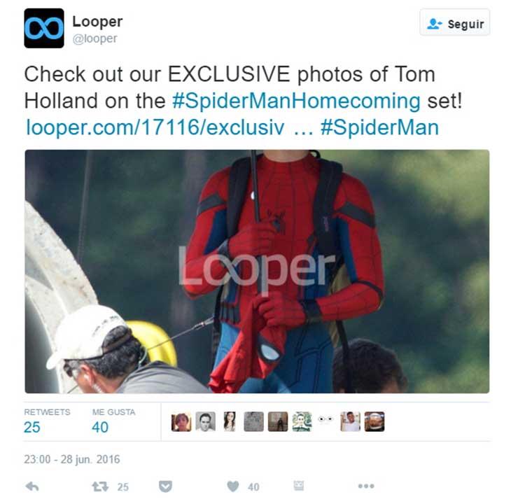 El traje de Spider Man en Spider-Man: Homecoming