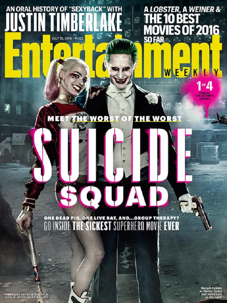 Portada de Entertainment Weekly para 'Escuadrón suicida'