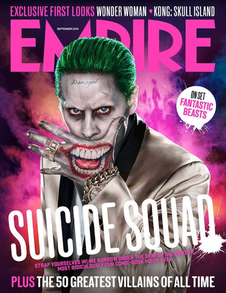 Portada de Empire para el Joker de Escuadrón Suicida