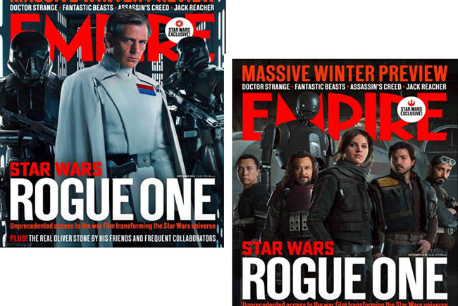 Portadas de Empire de 'Rogue One: una historia de Star Wars' destacada