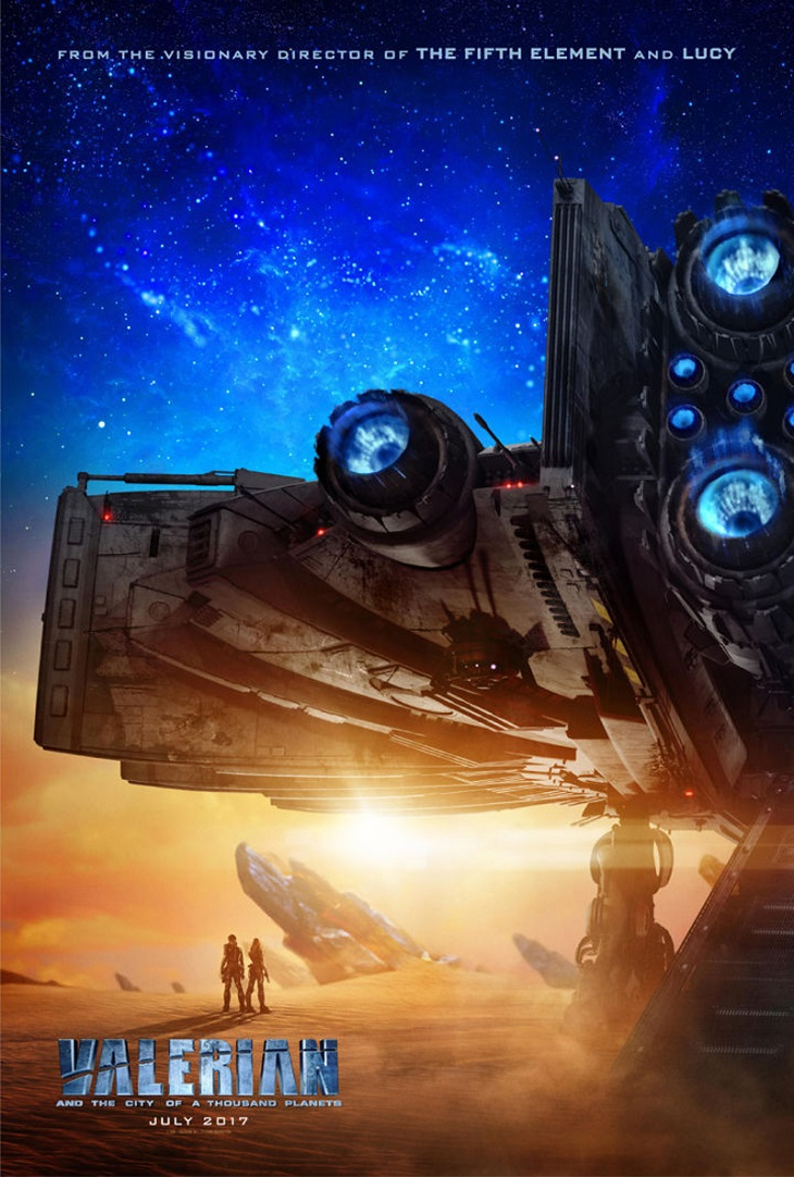 Nuevo póster de 'Valerian y la Ciudad de los Mil Planetas'