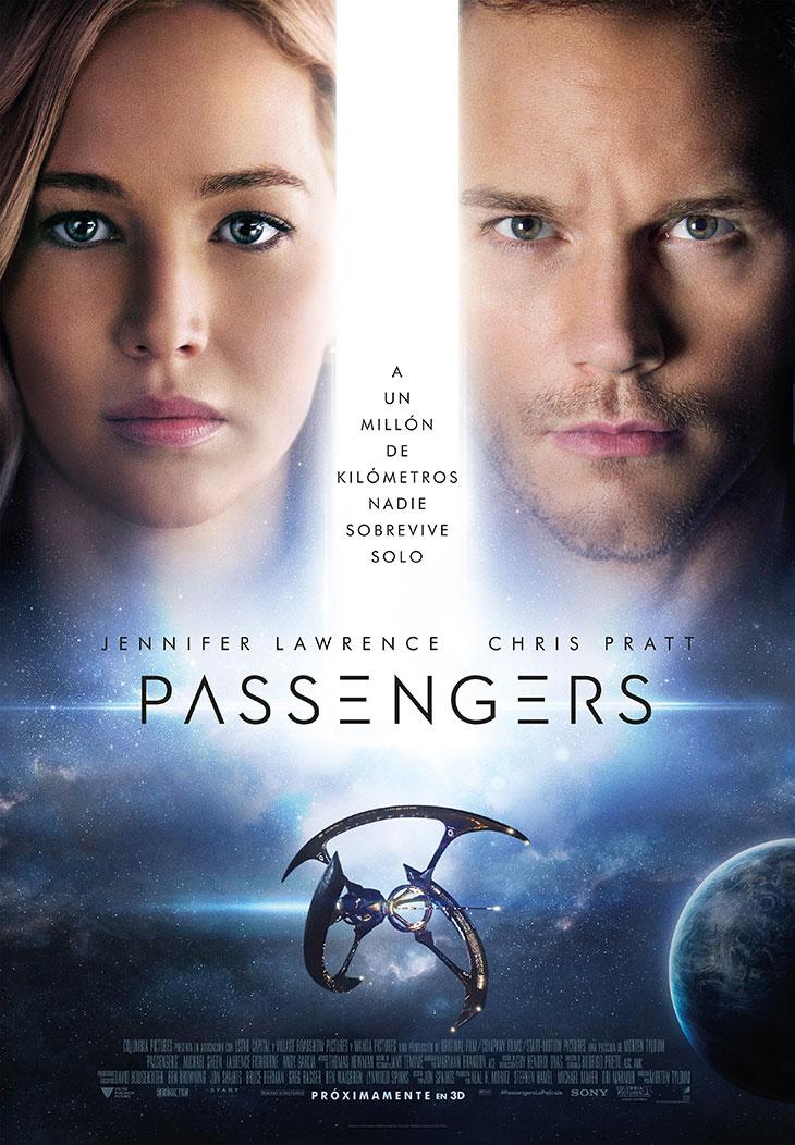 Cartel final en español de 'Passengers'