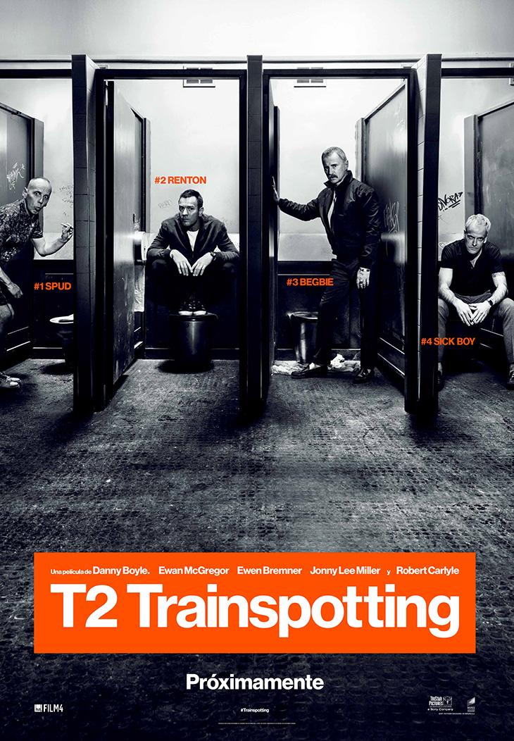Póster en español de T2: Trainspotting