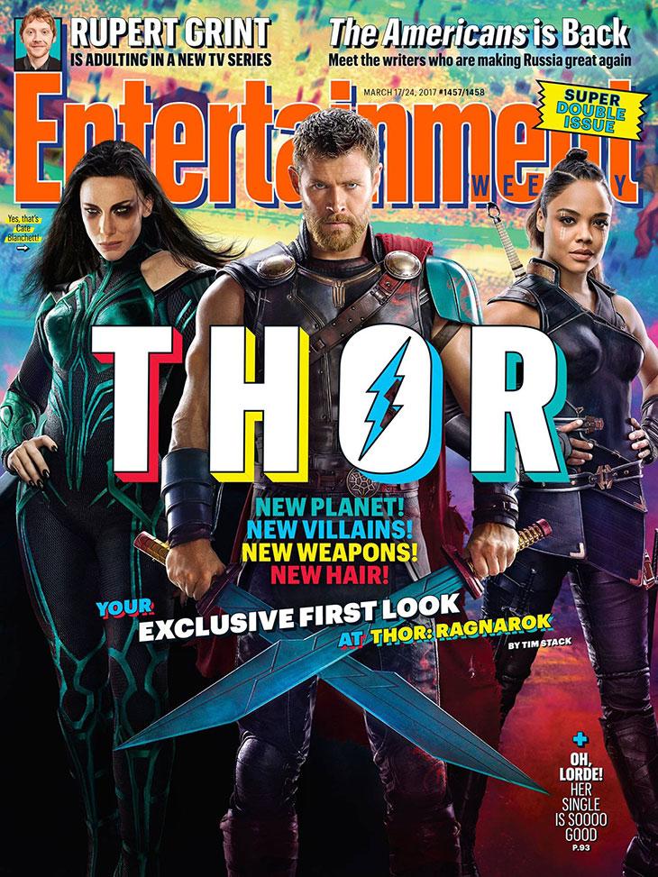 Portada de EW de Thor: Ragnarok