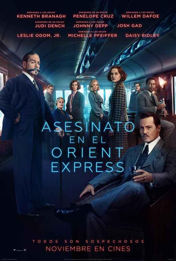 Póster definitivo de Asesinato en el Orient Express